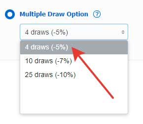 Multiple Draw: decide on the numbers