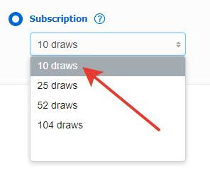 Subscription: decide on the numbers