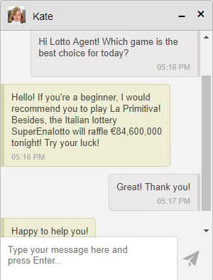 Lotto Agent customer support