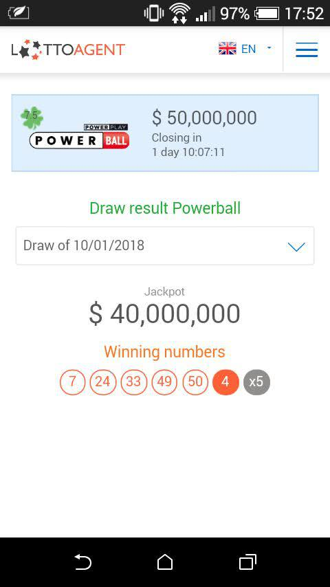 Lotto Agent app to check lotto results