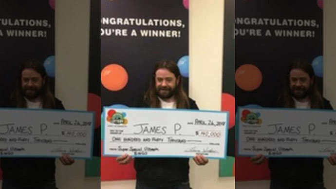 Lottery winner James P., an Uber driver