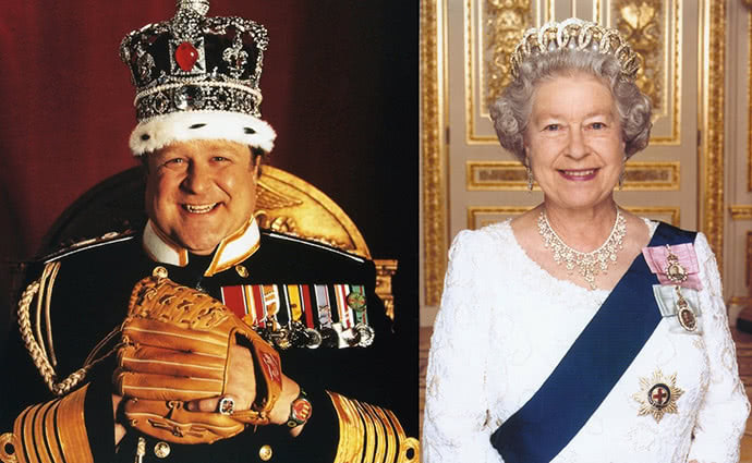Lottery winner Queen Elizabeth like Ralph of King Ralph
