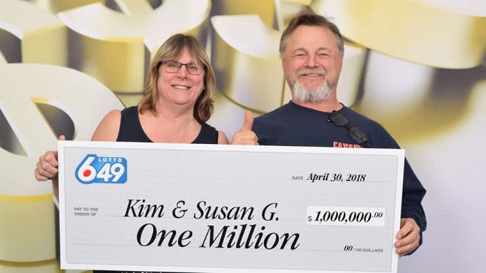 Lottery winners Kim and Susan Gamble