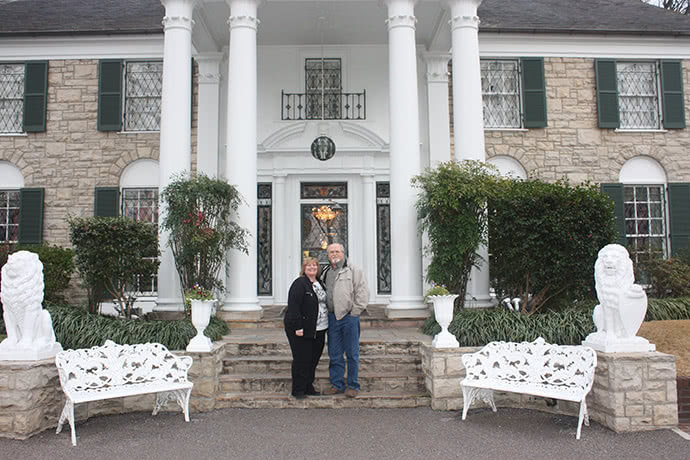 The mansion of the lottery winners Lisa and John Robinson
