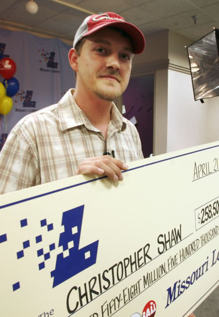 Chris Shaw Powerball lottery winner
