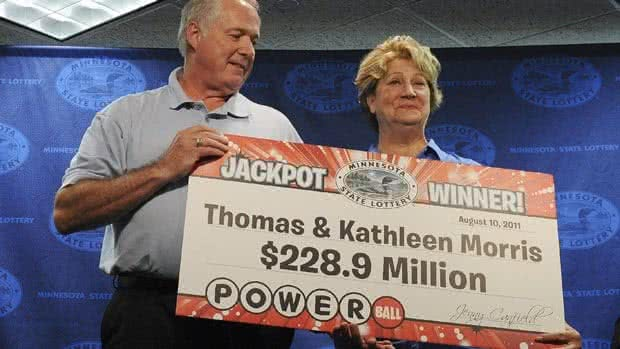 Thomas and Kathleen Morris Powerball lottery winners