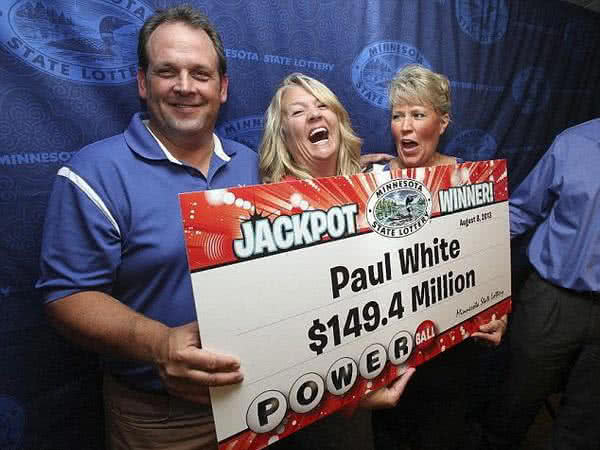 Paul White Powerball lottery winner